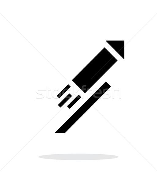 Stok fotoğraf: Roket · basit · ikon · beyaz · yangın