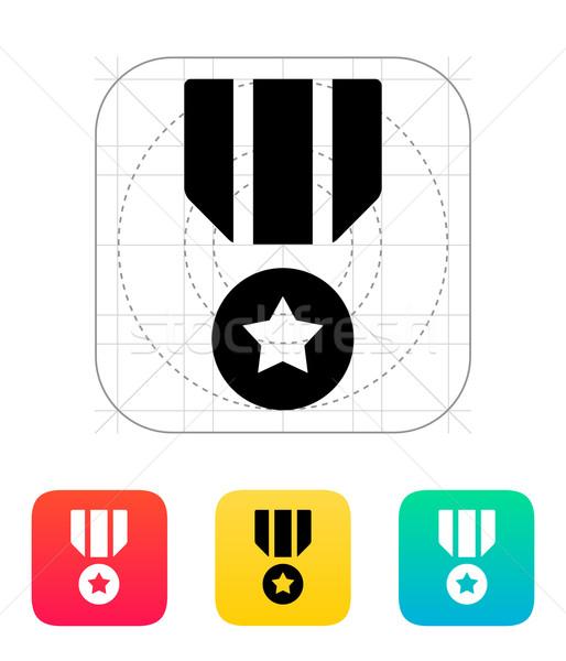 Militari medaglia icona metal lotta esercito Foto d'archivio © tkacchuk