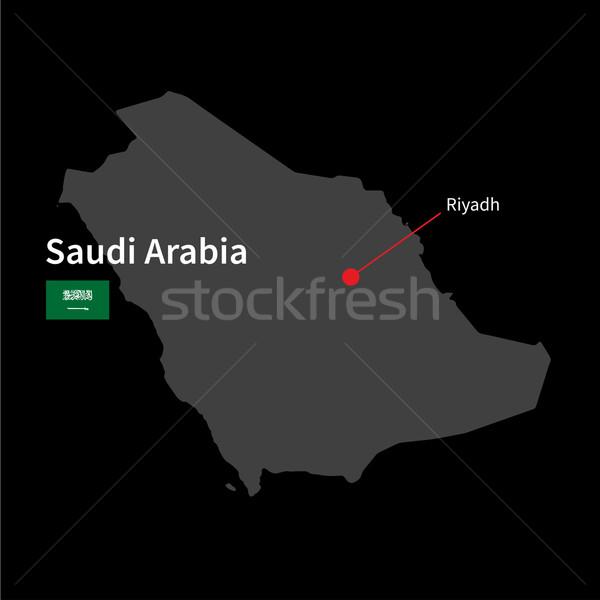 詳しい 地図 サウジアラビア 市 リヤド フラグ ストックフォト © tkacchuk