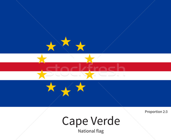 National flag of Cape Verde with correct proportions, element, colors Stock photo © tkacchuk
