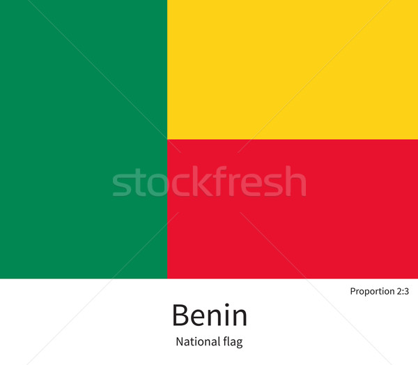 National flag of Benin with correct proportions, element, colors Stock photo © tkacchuk