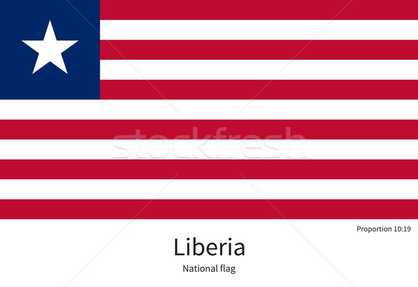 National flag of Liberia with correct proportions, element, colors Stock photo © tkacchuk