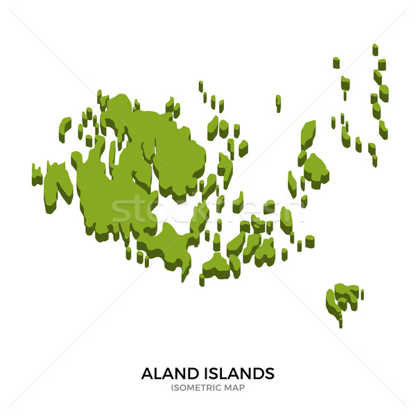 Isometric map of Aland Islands detailed vector illustration Stock photo © tkacchuk