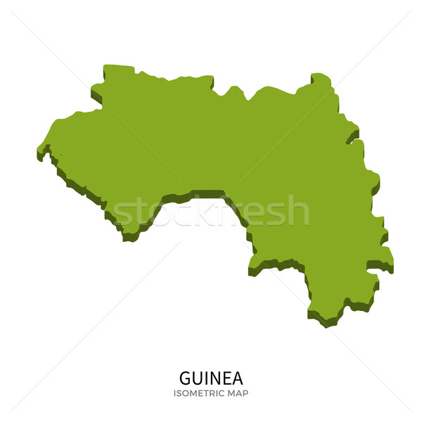 Isometric map of Guinea detailed vector illustration Stock photo © tkacchuk