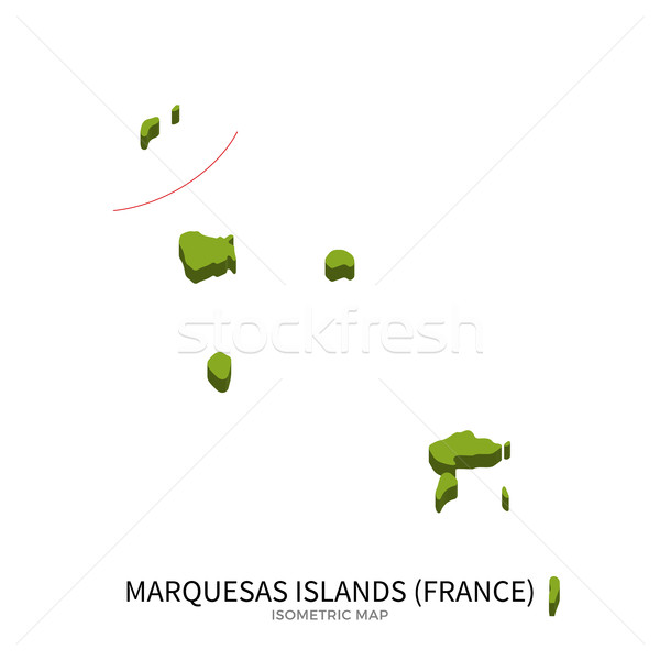 Isometric map of Marquesas Islands detailed vector illustration Stock photo © tkacchuk