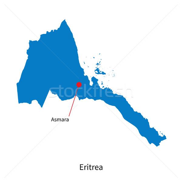 подробный вектора карта Эритрея город образование Сток-фото © tkacchuk