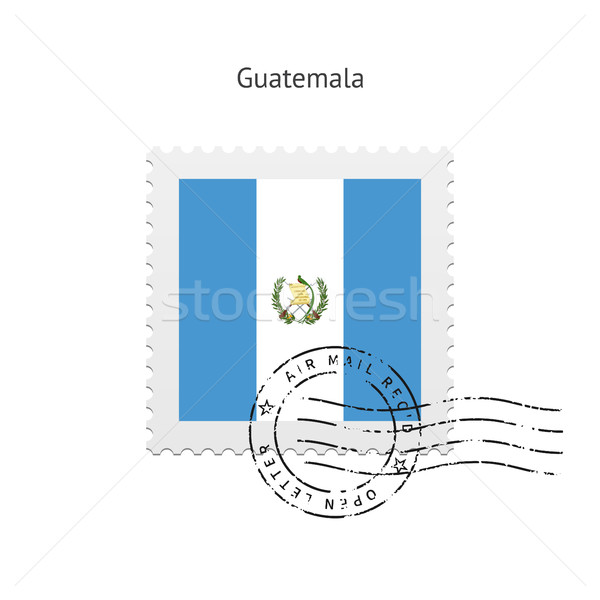 Guatemala Flag Postage Stamp. Stock photo © tkacchuk