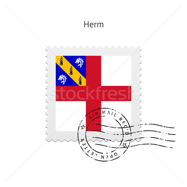 Herm Flag Postage Stamp. Stock photo © tkacchuk