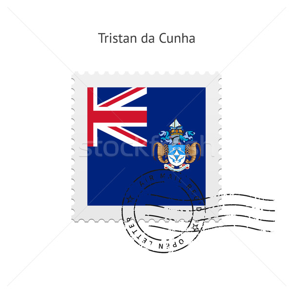 Tristan da Cunha Flag Postage Stamp. Stock photo © tkacchuk