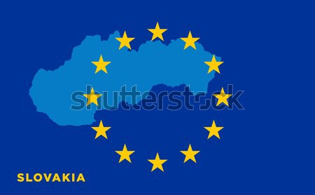 Flag of European Union with Spain on background Stock photo © tkacchuk