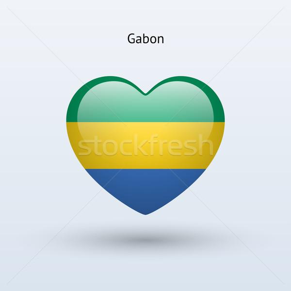 любви Габон символ сердце флаг икона Сток-фото © tkacchuk