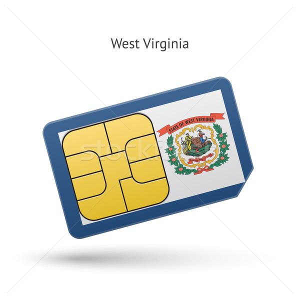 Nyugat-Virginia telefon kártya zászló üzlet technológia Stock fotó © tkacchuk