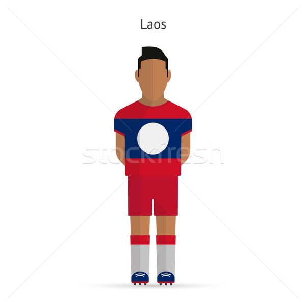 Laos football uniforme résumé fitness Photo stock © tkacchuk