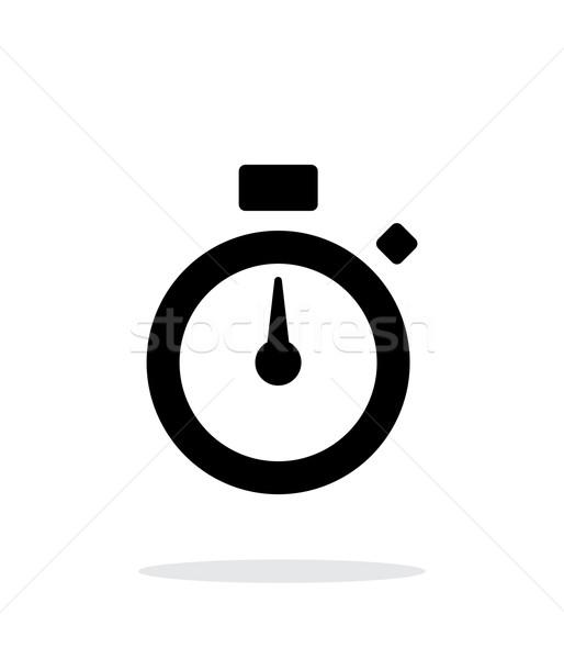 Stopwatch icon on white background. Stock photo © tkacchuk