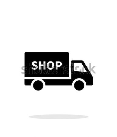 грузовик икона белый интернет грузовика пакет Сток-фото © tkacchuk