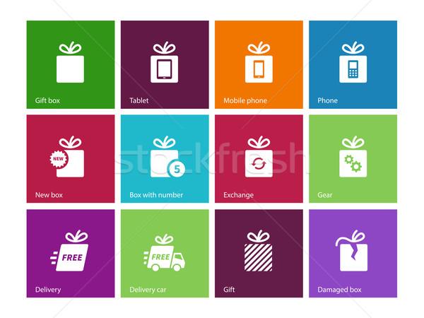 Set of gift box icons. Stock photo © tkacchuk