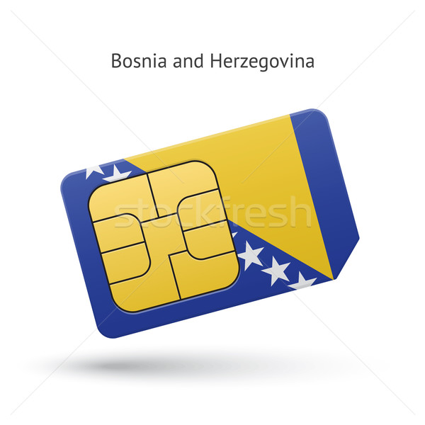 Bosnia Herzegovina teléfono tarjeta bandera teléfono móvil negocios Foto stock © tkacchuk