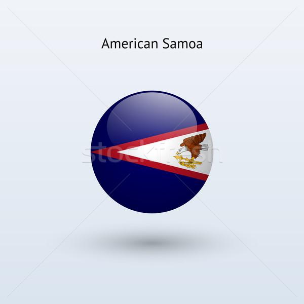 Amerikaans Samoa vlag grijs teken web reizen Stockfoto © tkacchuk
