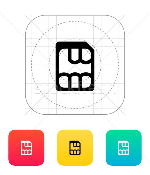 Nano ícone telefone móvel digital informação Foto stock © tkacchuk