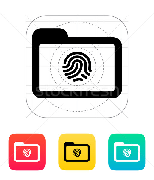 Folder with fingerprint icon. Stock photo © tkacchuk