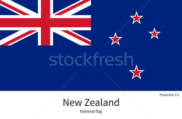 National flag of New Zealand with correct proportions, element, colors Stock photo © tkacchuk