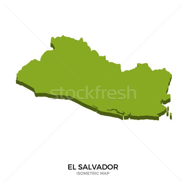 Isométrica mapa El Salvador detalhado isolado 3D Foto stock © tkacchuk