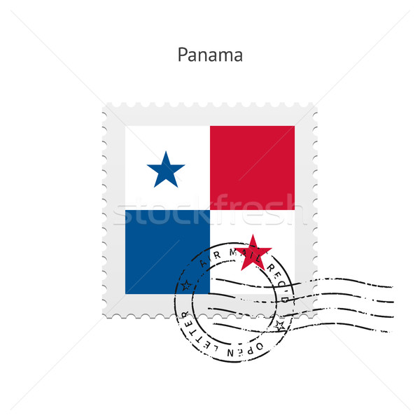 Panama Flag Postage Stamp. Stock photo © tkacchuk