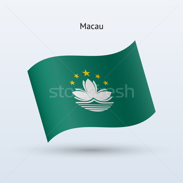Macau flag waving form. Vector illustration. Stock photo © tkacchuk