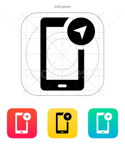 Phone navigator icon. Vector illustration. Stock photo © tkacchuk