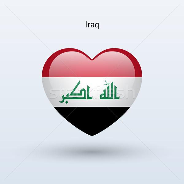 Liefde Irak symbool hart vlag icon Stockfoto © tkacchuk