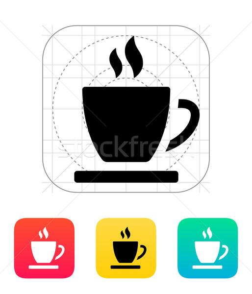 Teáscsésze ikon kávé otthon étterem tea Stock fotó © tkacchuk