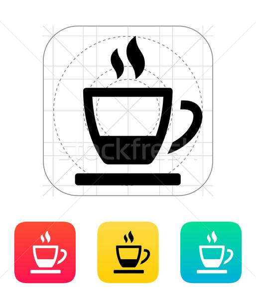 Ending tea cup icon. Stock photo © tkacchuk