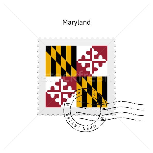 Maryland bandiera bianco segno lettera Foto d'archivio © tkacchuk
