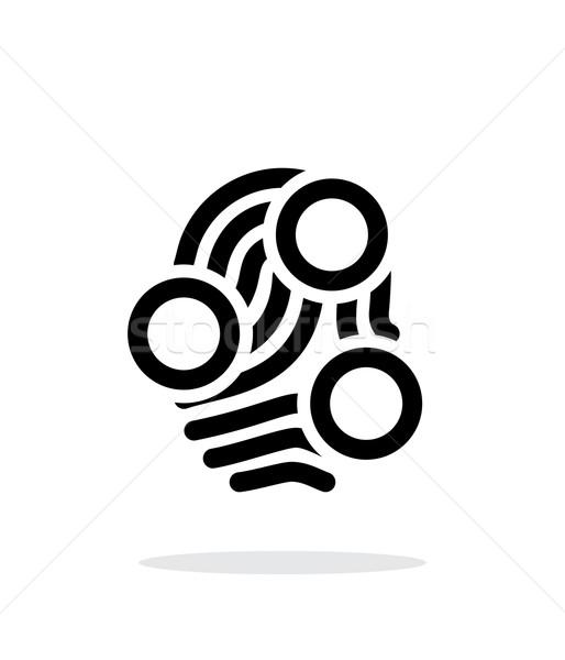 Palców pętla typu skanować ikona biały Zdjęcia stock © tkacchuk