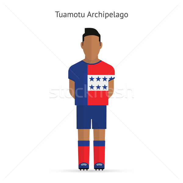 Tuamotu Archipelago football player. Soccer uniform. Stock photo © tkacchuk