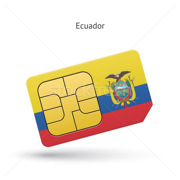 Ecuador mobiele telefoon kaart vlag business ontwerp Stockfoto © tkacchuk
