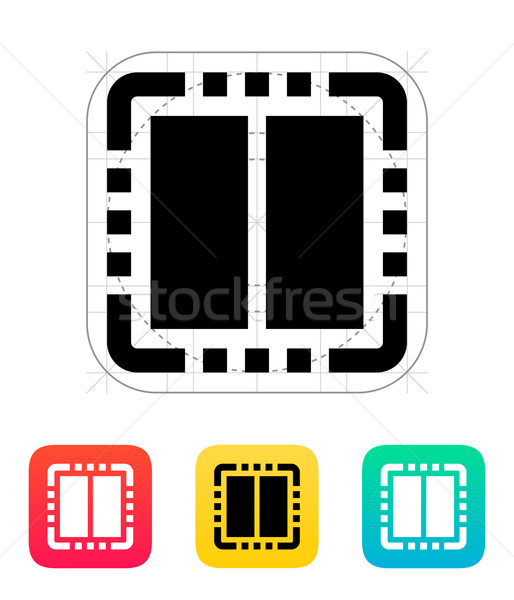 Kern cpu icon vector illustratie ontwerp Stockfoto © tkacchuk