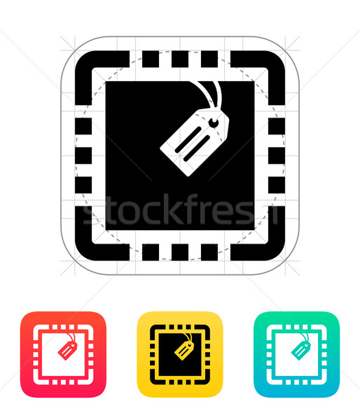 Cpu Tag Symbol Vektor Illustration Design Stock foto © tkacchuk