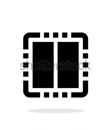 Dual Core CPU simple icon on white background. Stock photo © tkacchuk