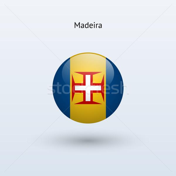 Madeira zászló szürke felirat háló utazás Stock fotó © tkacchuk