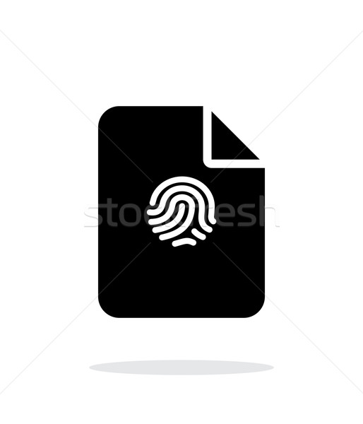 File with fingerprint icon on white background. Stock photo © tkacchuk