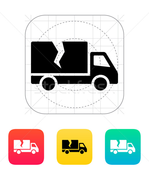 Damaged truck icon. Stock photo © tkacchuk