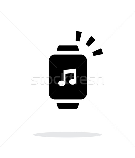Outgoing sound from smart watch simple icon on white background. Stock photo © tkacchuk