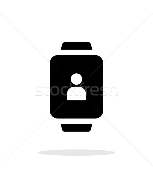 User account on smart watch simple icon on white background. Stock photo © tkacchuk