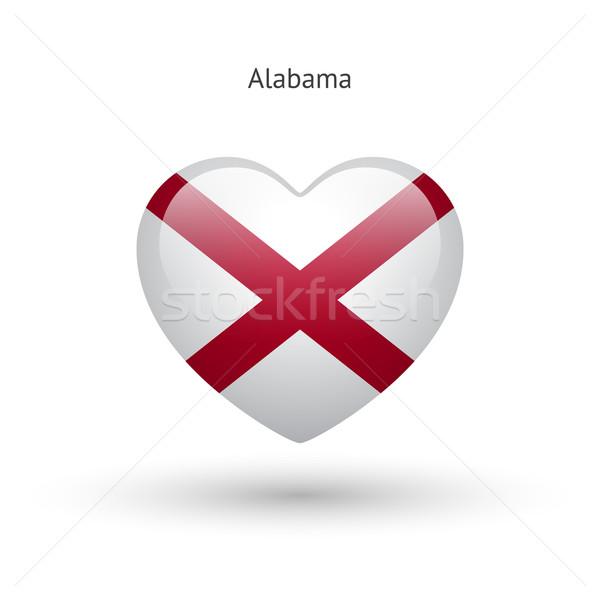 Sevmek Alabama simge kalp bayrak ikon Stok fotoğraf © tkacchuk