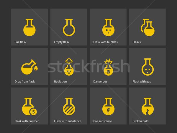 Laboratory flask icons. Stock photo © tkacchuk