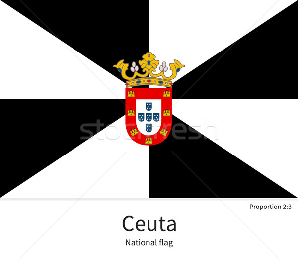 National flag of Ceuta with correct proportions, element, colors Stock photo © tkacchuk