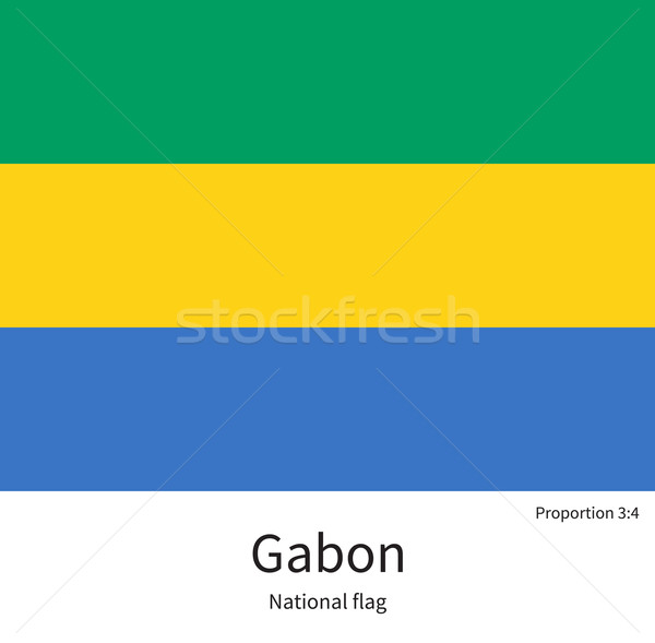 National flag of Gabon with correct proportions, element, colors Stock photo © tkacchuk