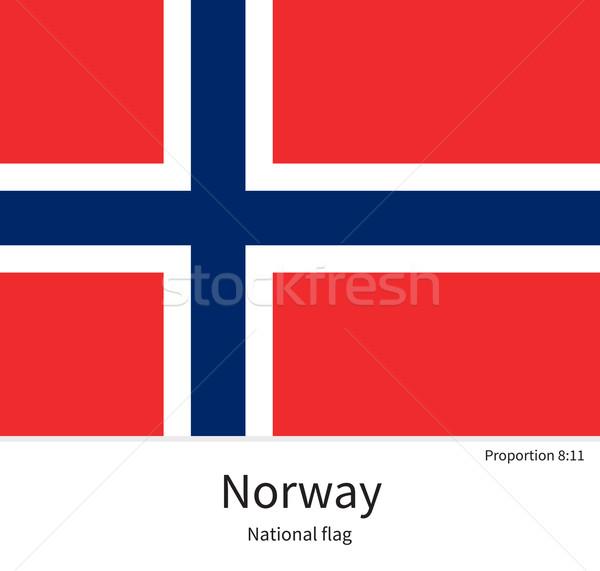 Bandiera Norvegia correggere elemento colori istruzione Foto d'archivio © tkacchuk