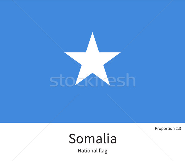 National flag of Somalia with correct proportions, element, colors Stock photo © tkacchuk